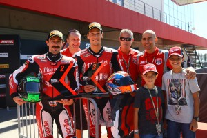 Eugene Laverty and Savadori with Milwaukee Aprilia team, Portuguese WSBK 2017