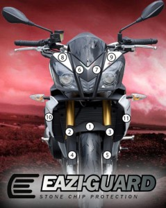 Eazi-Guard Background with Aprilia Tuono 13