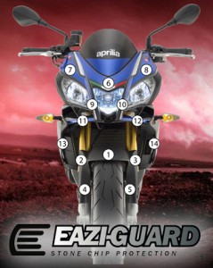 Eazi-Guard Background with Aprilia Tuono 15
