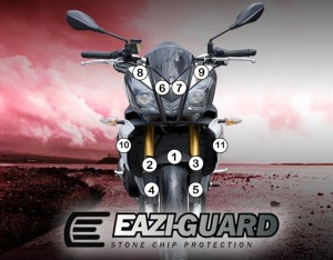 Eazi-Guard Background with Aprilia Tuono V4 2011-2014 for Listing