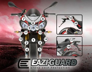 Eazi-Guard Background with Aprilia Tuono V4 2015-2017 for Listing