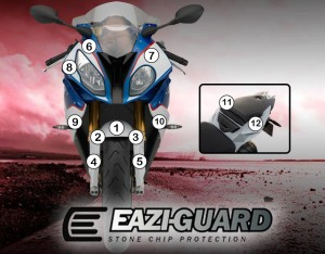 Eazi-Guard Background with BMW HP4 2015-2017 for Listing