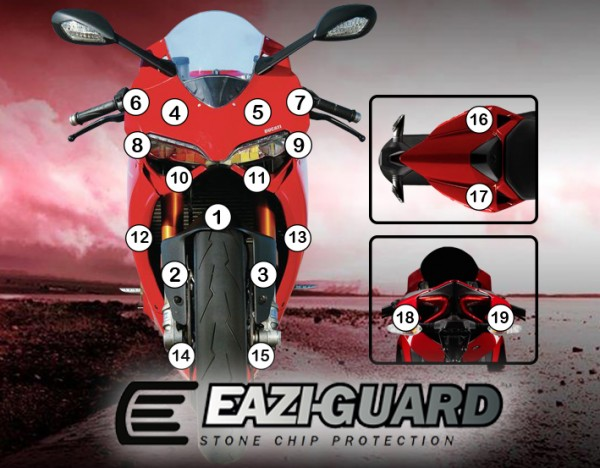 Eazi-Guard Background with Ducati 1199 2012-2017 Panigale for Listing