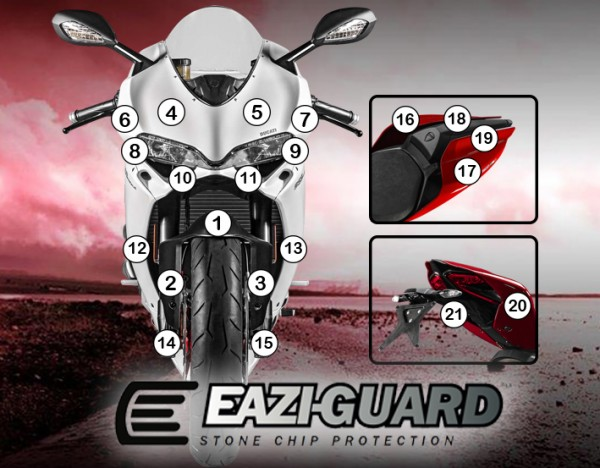 Eazi-Guard Background with Ducati 1299 2015-2017 Panigale for Listing