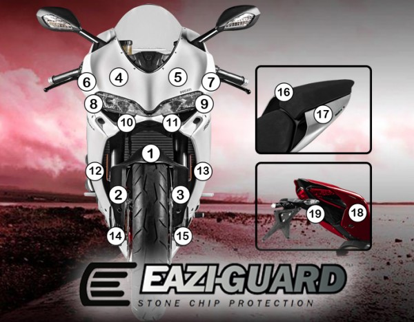 Eazi-Guard Background with Ducati 959 2016-2017 Panigale for Listing