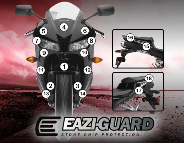 Eazi-Guard Background with Honda CBR600RR 2013-2016 for Listing