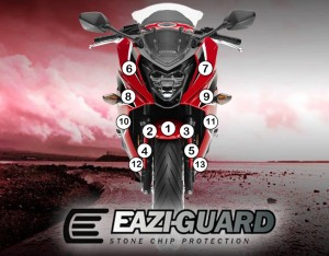 Eazi-Guard Background with Honda CBR650RR F 2014-2017 for Listing