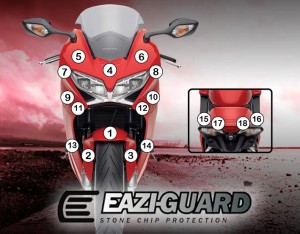 Eazi-Guard Background with Honda VFR800 2014-2017 for Listing