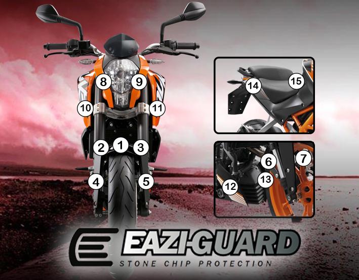 Eazi-Guard kit for KTM 125 Duke 2011-2016   Eazi-Grip & Eazi-Guard