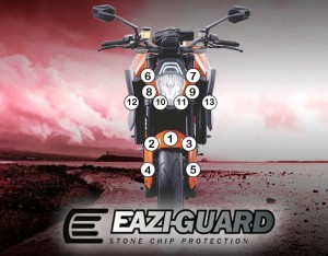 Eazi-Guard Background with KTM 1290 Superduke 2014-2016 for Listing