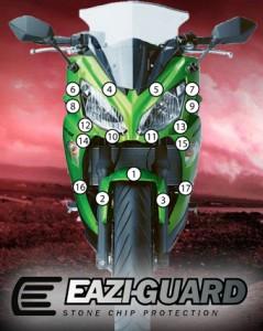Eazi-Guard Background with Kawasaki ER6F