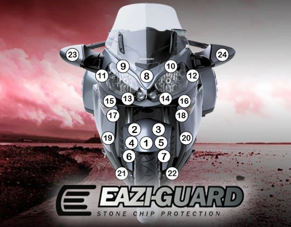 Eazi-Guard Background with Kawasaki GTR1400 2014-2017 for Listing