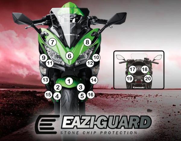 Eazi-Guard Background with Kawasaki Ninja 650 2017 for Listing