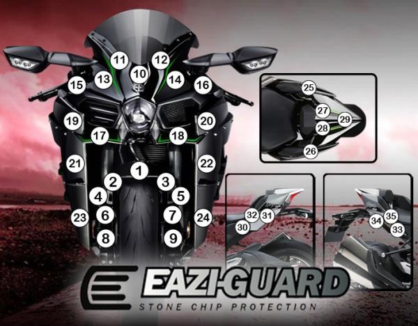 Eazi-Guard Background with Kawasaki Ninja H2 2015-2017 for Listing