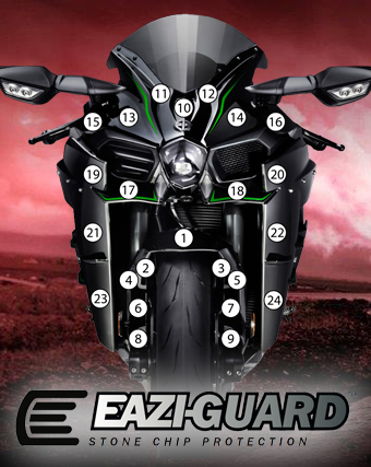 Eazi-Guard Background with Kawasaki Ninja H2 (Without Tank&Tail)
