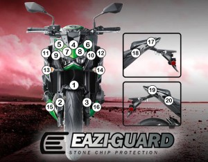 Eazi-Guard Background with Kawasaki Z800 2013-2016 for Listing