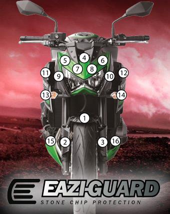 Eazi-Guard Background with Kawasaki Z800