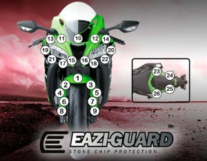Eazi-Guard Background with Kawasaki ZX10R 2016-2017 for Listing