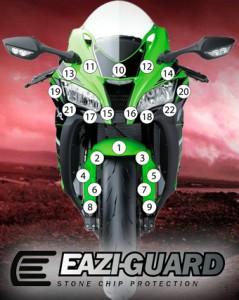 Eazi-Guard Background with Kawasaki ZX10R 2016