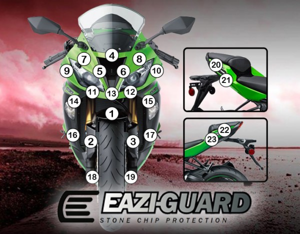 Eazi-Guard Background with Kawasaki ZX6R (636) 2013-2016 for Listing