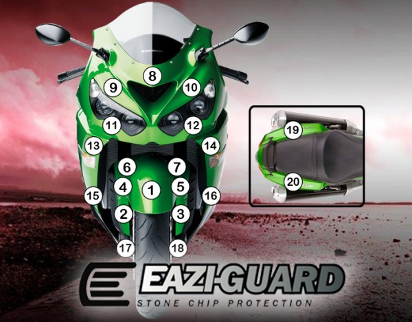 Eazi-Guard Background with Kawasaki ZZR1400 2012-2017 for Listing
