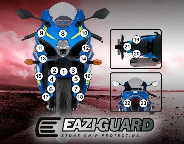 Eazi-Guard Background with Suzuki GSXR1000 2017 for Listing