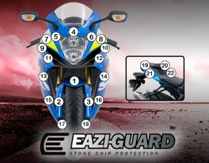 Eazi-Guard Background with Suzuki GSXR600 750 2011-2017 for Listing