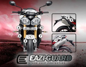 Eazi-Guard Background with Triumph 1050 Speed Triple 2011-2017 for Listing
