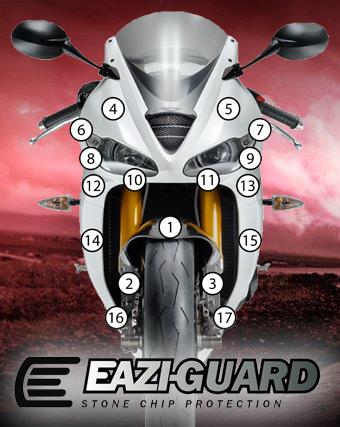 Eazi-Guard Background with Triumph 675 Daytona 2013-2016