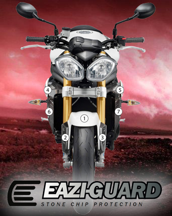 Eazi-Guard Background with Triumph Speed Triple
