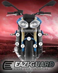 Eazi-Guard Background with Triumph Street Triple
