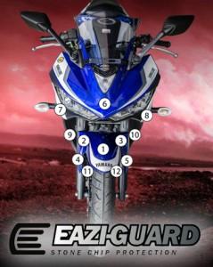 Eazi-Guard Background with Yamaha R3