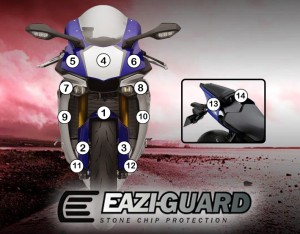 Eazi-Guard Background with Yamaha YZF-R1 2015-2017 for Listing