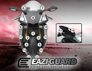 Eazi-Guard Background with Yamaha YZF-R1M 2015-2017 for Listing