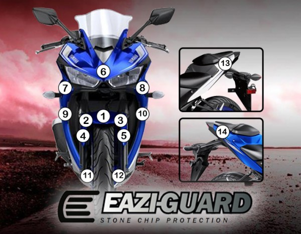 Eazi-Guard Background with Yamaha YZF-R3 2015-2017 for Listing