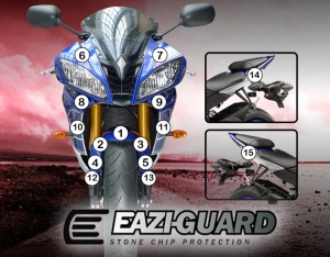 Eazi-Guard Background with Yamaha YZF-R6 2008-2016 for Listing
