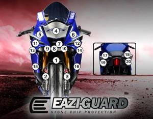 Eazi-Guard Background with Yamaha YZF-R6 2017 for Listing