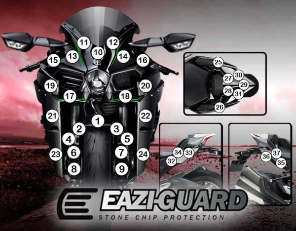 GUARDKAW011 Eazi-Guard Background with Kawasaki Ninja H2 2015-2017 for Listing