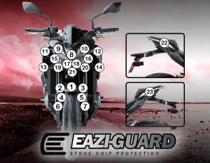 GUARDKAW014 Eazi-Guard Background with Kawasaki Z900 2017-2018 for Listing