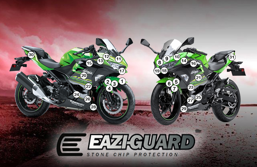 Eazi Guard Kawasaki Ninja 250400 2018 Eazi Grip Eazi Guard