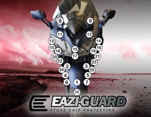 GUARDYAM007 Eazi-Guard Background with Yamaha FJR1300AE AS 2014-2018