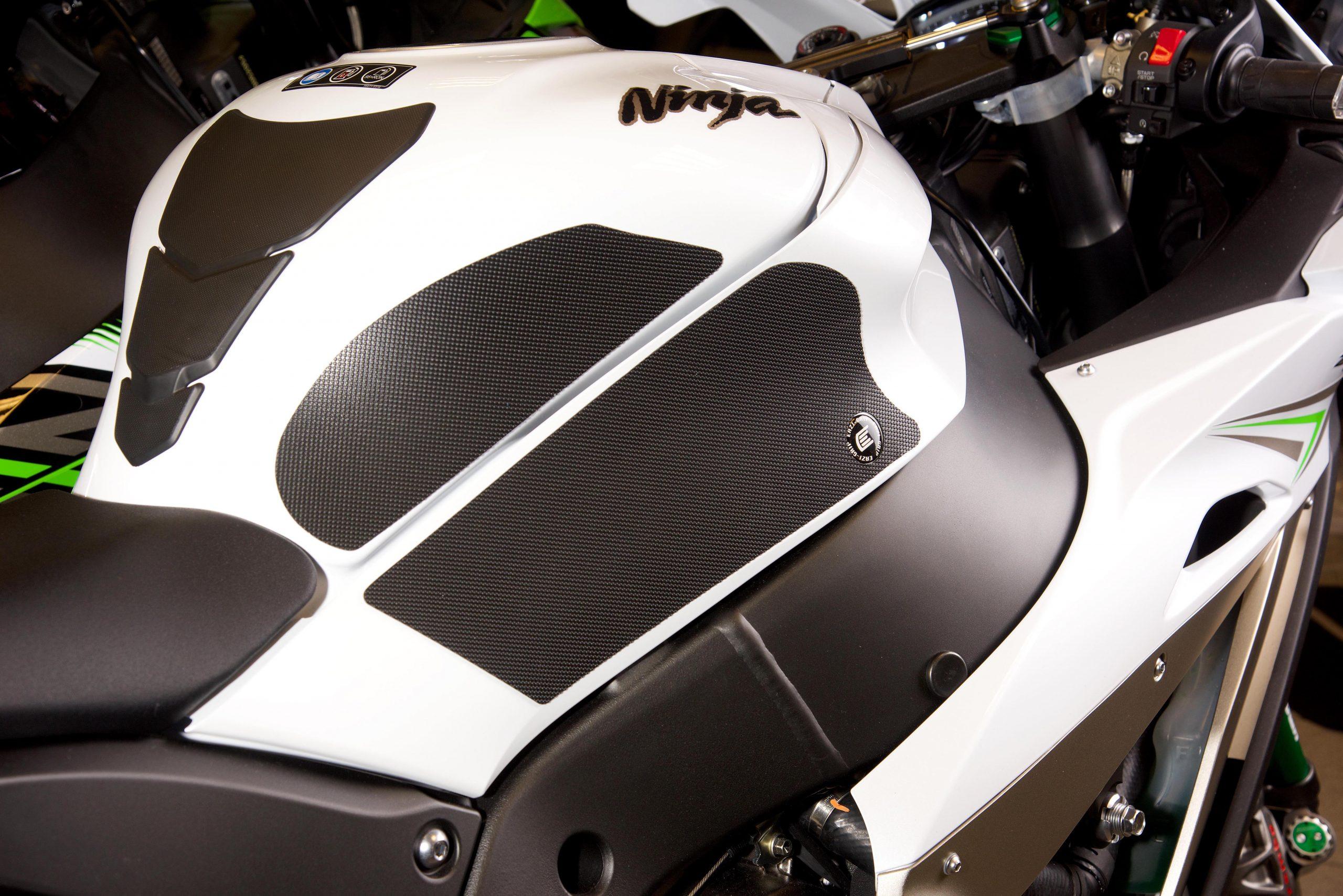 Eazi-Grip PRO Kawasaki ZX10R Tank Grips in Clear 2016-2017