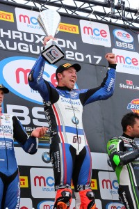 2017 British Superbike Championship, BSB R07, Thruxton, Hampshire, UK. 6th August 2017. Peter Hickman, Louth, Smiths Racing